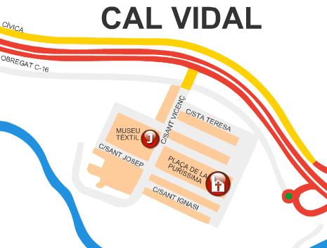 Mapa Cal Vidal