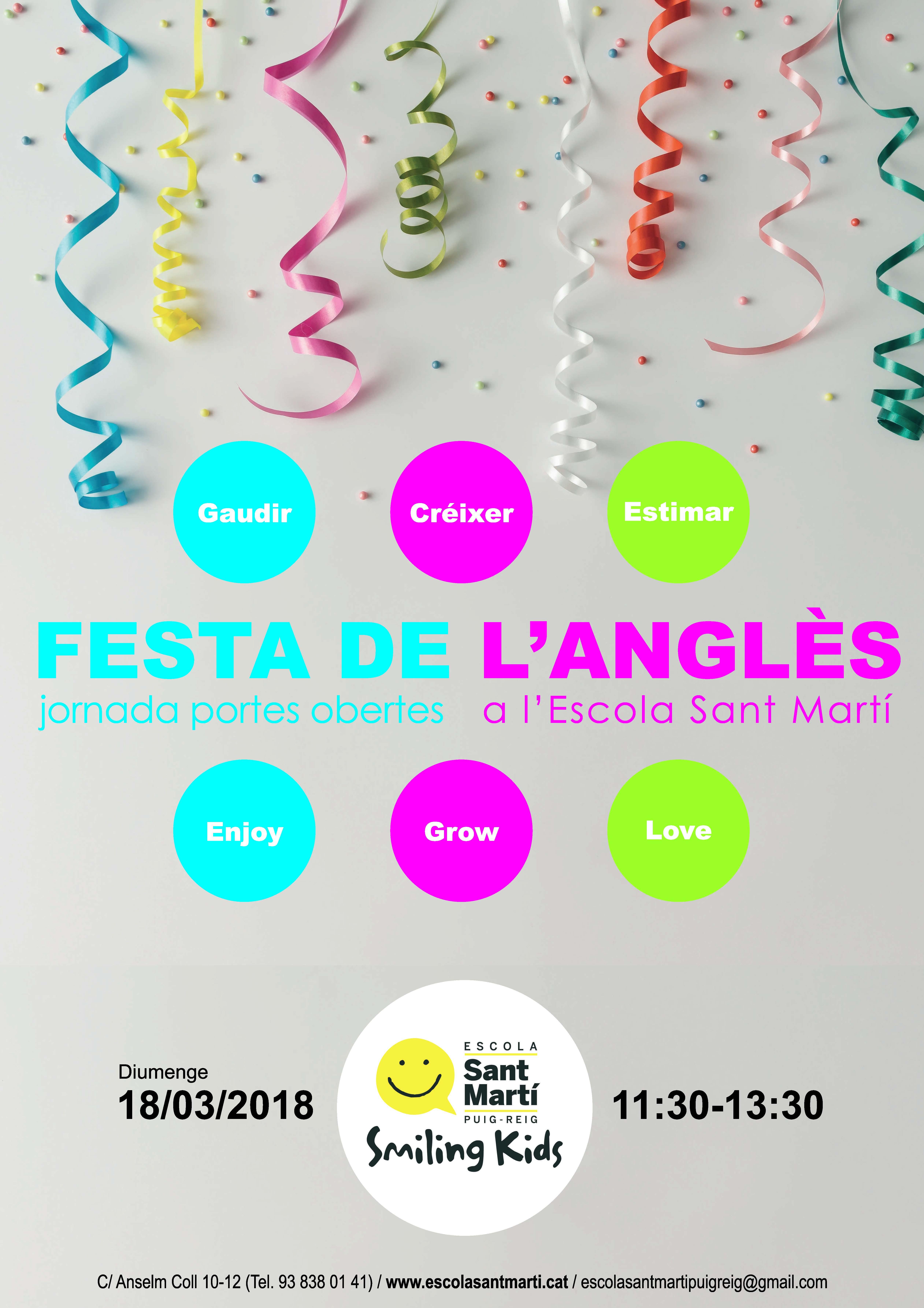 Festa de l'Anglès · jornada portes obertes a l'Escola Sant Martí