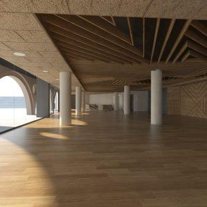Així serà la Sala de la Plaça Nova (antiga biblioteca)