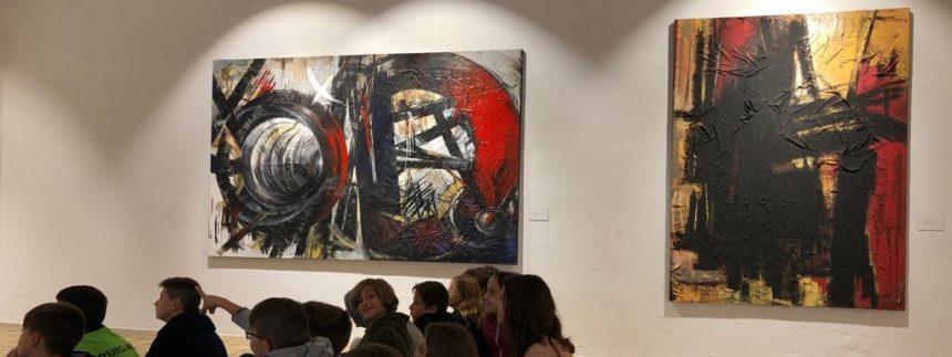 Alumnes de Puig-reig visiten l'obra de Joan Ferrer