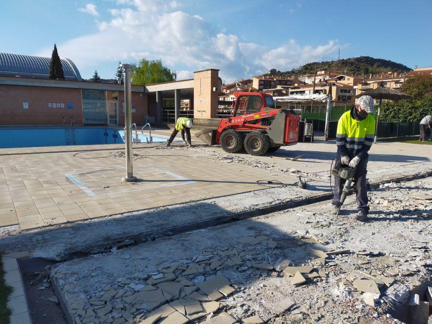 L'Ajuntament de Puig-reig millora les platges i les instal·lacions de la piscina municipal