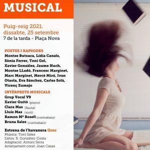 Puig-reig acollirà el recital poètico-musical per commemorar el 60è aniversari d'Òmnium Cultural a nivell nacional